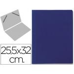 Carpeta lomo simple cartón forrado geltex color azul