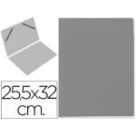 Carpeta lomo simple cartón forrado geltex color gris