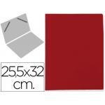 Carpeta lomo simple cartón forrado geltex color rojo
