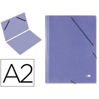 Carpeta planos Liderpapel A2 cartón gofrado Nº 12 color azul