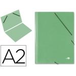 Carpeta planos Liderpapel A2 cartón gofrado Nº 12 color verde