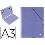 Carpeta planos Liderpapel tamaño A3 cartón gofrado Nº 12 color azul