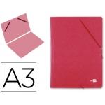 Carpeta planos Liderpapel tamaño A3 cartón gofrado Nº 12 color rojo