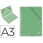 Carpeta planos Liderpapel tamaño A3 cartón gofrado Nº 12 color verde