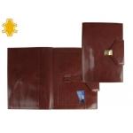 Carpeta portatamano folios artesanía con broche de piel medidas 37,8x26,5x3 cm