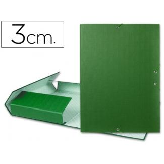Carpeta proyectos Liderpapel tamaño folio lomo 30 mm cartón forrado color verde