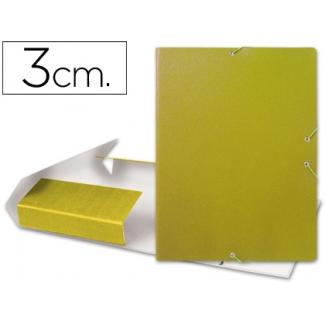 Carpeta proyectos Liderpapel tamaño folio lomo 30 mm cartón gofrado amarilla