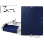 Carpeta proyectos Liderpapel tamaño folio lomo 30 mm cartón gofrado color azul