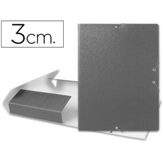 Liderpapel PJ33 - Carpeta de proyectos con gomas, tamaño folio, lomo de 30 mm, color gris