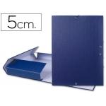 Carpeta proyectos Liderpapel tamaño folio lomo 50 mm cartón forrado color azul
