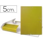 Carpeta proyectos Liderpapel tamaño folio lomo 50 mm cartón gofrado amarilla
