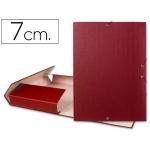 Carpeta proyectos Liderpapel tamaño folio lomo 70 mm cartón forrado color roja