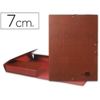 Carpeta proyectos Liderpapel tamaño folio lomo 70 mm cartón forrado cuero