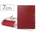 Carpeta proyectos Liderpapel tamaño folio lomo 70 mm cartón gofrado color roja
