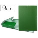 Carpeta proyectos Liderpapel tamaño folio lomo 90 mm cartón forrado color verde