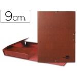 Carpeta proyectos Liderpapel tamaño folio lomo 90 mm cartón forrado cuero