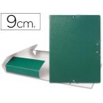 Carpeta proyectos Liderpapel tamaño folio lomo 90 mm cartón gofrado color verde