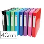 Carpeta proyectos cartón compacto Exacompta tamaño A4 lomo 40 mm 600 g/m2 colores surtidos