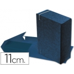 Carpeta proyectos cartón compacto Gio formato folio color azul lomo extensible de 11 cm tamaño 327x240 mm