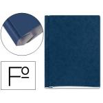 Carpeta proyectos cartón compacto Gio tamaño folio color azul con fuelle e interiores