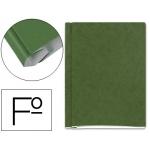 Carpeta proyectos cartón compacto Gio tamaño folio color verde con fuelle e interiores