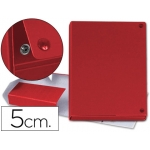 Carpeta proyectos cartón forrado geltex lomo 5 cm color rojo