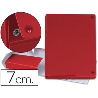 Carpeta proyectos cartón forrado geltex lomo 7 cm color rojo