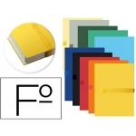 Carpeta proyectos fast- Paperflow tamaño folio con bolsa y solapa lomo extensible pack de 10 unidades colores surtidos