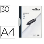 Durable Swingclip - Dossier con pinza lateral y giratoria, A4, capacidad para 30 hojas, color blanco