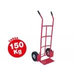 Carretilla portapaquetes con ruedas neumáticas tamaño mm carga de 150 kg