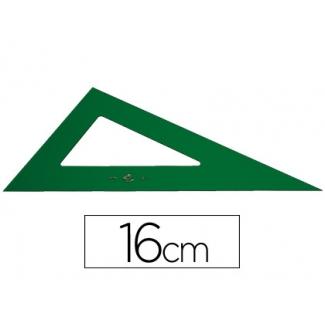 Cartabón Faber-Castell 16 cm plástico color verde