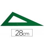 Faber-Castell - Cartabón de metacrilato, sin graduación, cateto mayor de 28 cm, color verde