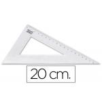 Liderpapel RN02 - Cartabón de plástico, cateto mayor de 20 cm, transparente