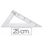 Liderpapel RN05 - Cartabón de plástico, cateto mayor de 25 cm, transparente