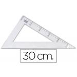 Liderpapel RN07 - Cartabón de plástico, cateto mayor de 30 cm, transparente