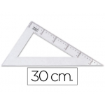 Cartabón Liderpapel 30 cm plástico cristal