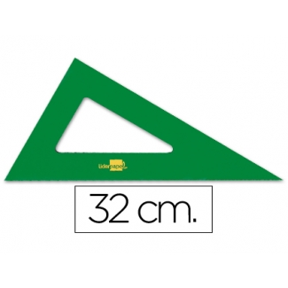 Cartabón Liderpapel 32 cm acrilico color verde