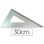 Cartabón Q-connect 30 cm aluminio