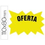 Cartel cartulina etiqueta marcaprecios amarillo fluorescente 110x80 mm bolsa de 50 etiquetas