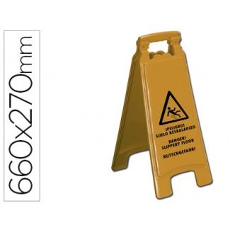 Cartel plástico Q-Connect señalizacion suelo resbaladizo