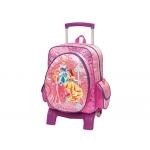 Cartera escolar Jaimarc princesas disney mochila con trolley grande 510x300x220 mm