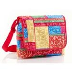 Cartera escolar Miquelrius agatha ruiz de la prada s letras bolso bandolera 33x33x12 cm