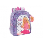 Cartera escolar Safta barbie mochila color infantil 260x340x110 mm