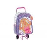 Cartera escolar Safta barbie mochila escolar trolley 330x420x150 mm