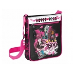 Cartera escolar Safta monster high dracula bolso bandolera 21x25x4,5 cm