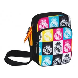 Cartera escolar Safta real madrid colores bolso porta video juegos 16x22x6 cm
