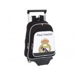 Cartera escolar Safta real madrid mochila color infantil con trolley 27x34x10 cm