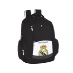 Cartera escolar Safta real madrid mochila doble multibolsillos 32x44x20 cm