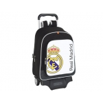 Cartera escolar Safta real madrid mochila grande con trolley 33x43x15 cm