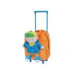 Cartera escolar color infantil mochila peluche con carrito niño